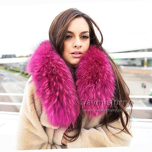 DMA76M Detachable Raccoon Fur Parka Coat Collar