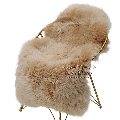 1 Pelt  Australian Whole Sheepskin Rug - Camel