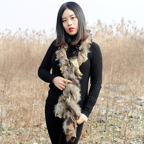 DMS69 Knit Feather Boa