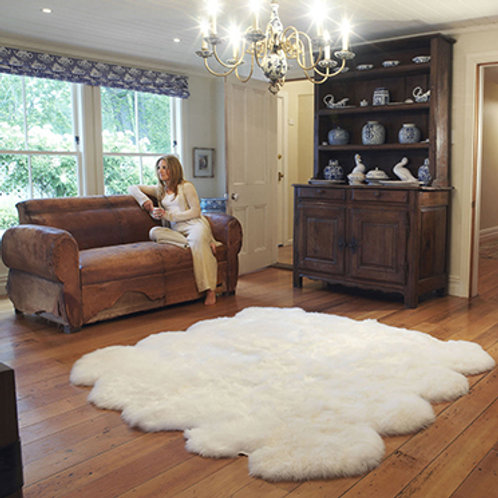 DMD110A 8 Pelt Australian Whole Sheepskin Carpet