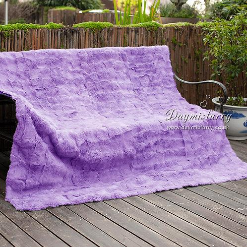 DMD30C Patchwork Rabbit Fur Blanket / Fur Throw