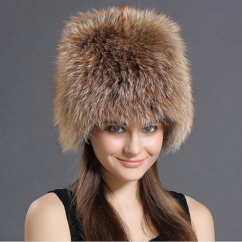 DMC73A  Red  Fox Fur Hat / Winter hat /  Fashion Hats