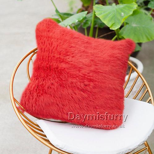 DMD79H Knit  Rabbit Fur Pillow Case