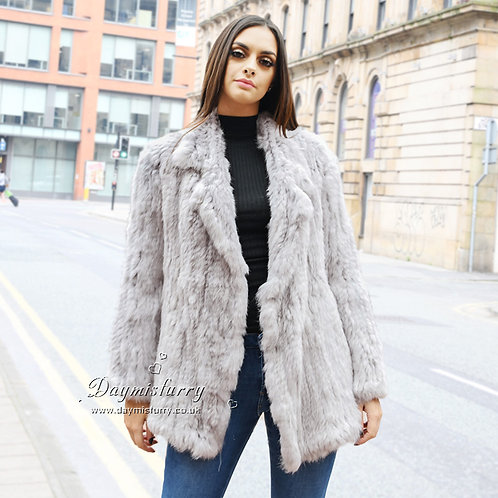 DMGA04 Knit Rabbit Fur Lady Jacket