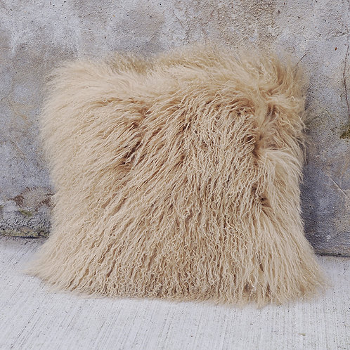DMD04U  Mongolian lamb Fur Pillow / Cushion Case
