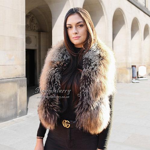 DMS28DF  Fox Fur  Scarf / Winter Scarf / Fur Collar