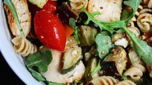 Chicken and Arugula Farmers Market Pasta Salad