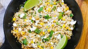 Skillet Mexican Street Corn Cauliflower Rice
