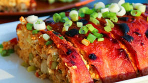 Bacon Wrapped Buffalo Chicken Meatloaf
