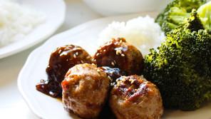 Ground Turkey Meatballs with Szechuan Bean Sauce