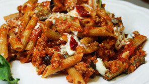 Spicy Roasted Eggplant and Ricotta Bolognese