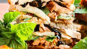 Peach Caprese Chicken Sandwich