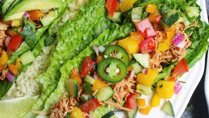 Chipotle Chicken Lettuce Wraps with Mango Salsa