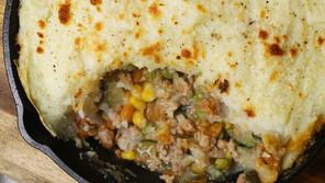 Ground Turkey Shepherd's Pie for 2 with Cauliflower Potato Mash
