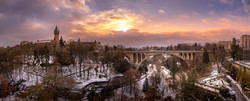 Luxembourg Pont Adolphe Petrusse snow Pa