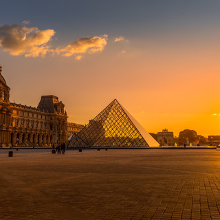 Sunset at the Louvre