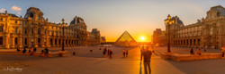 327A1890 HDR Pano Sunset at the Louvre w