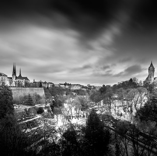 Luxembourg Cathedrale Petrusse BCEE BW-2