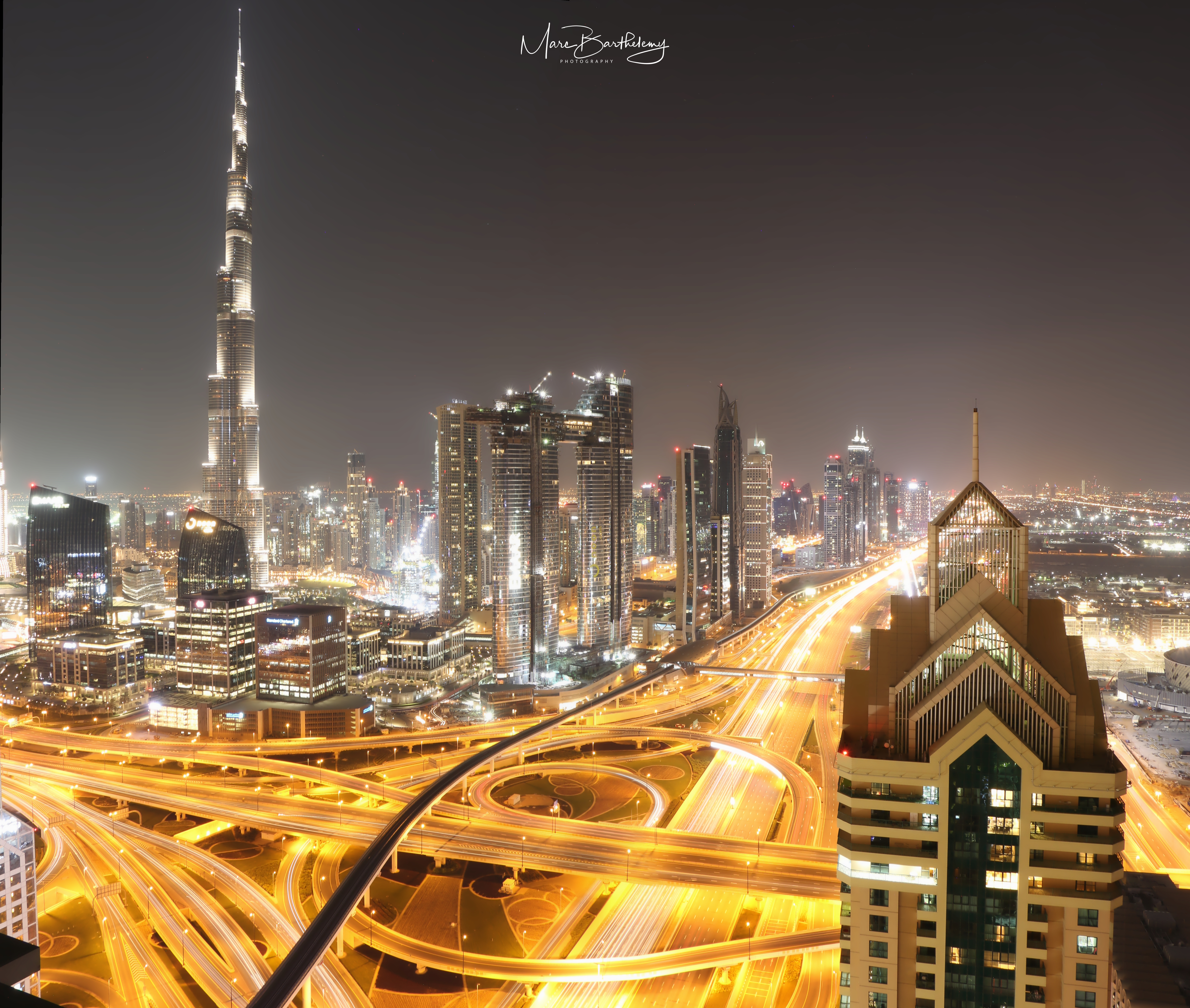 Panorama view of Dubai
