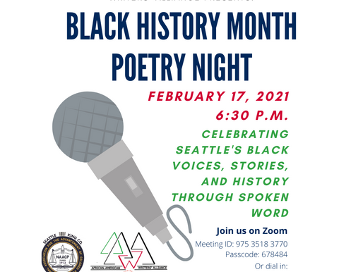 Seattle King County NAACP Black History Month Poetry Night