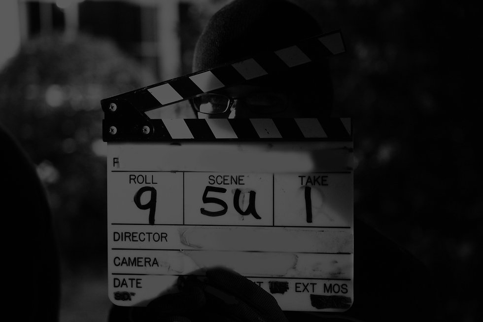 Clapper board, MN Academy audition date.