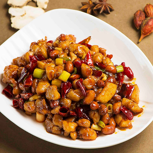 Kung bao chicken with red pepper and peanuts (10406)
