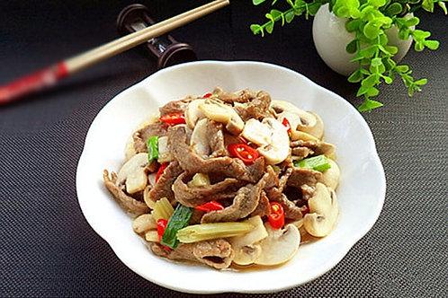 Stir fried beef with mushroom (10307)
