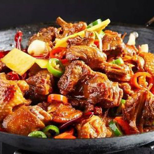 Spicy dry pot chicken pieces on the bone (55058)