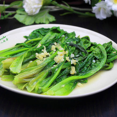 Garlic yau mak choy with garlic (10618)