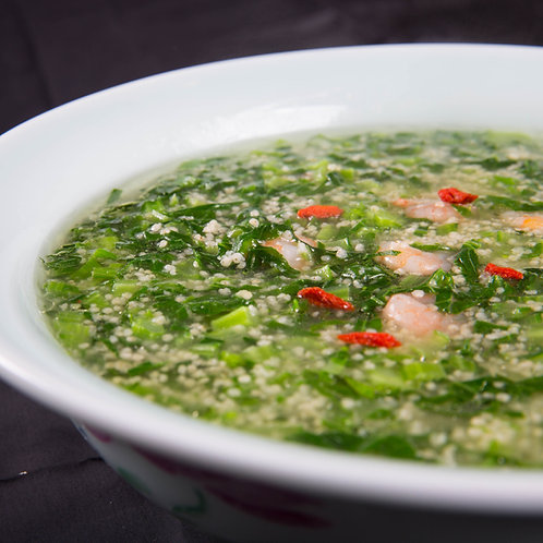 鲜虾小米青菜钵 (10683)