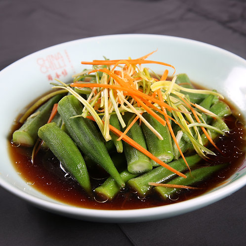 Boiled Okra with soy sauce (89507)