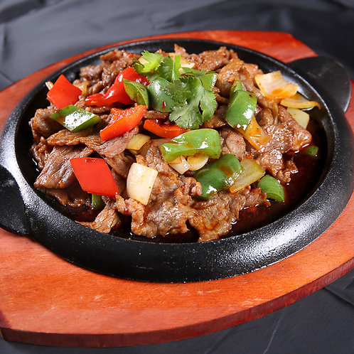 Sizzling beef slices and peppers in cumin sauce (10308)