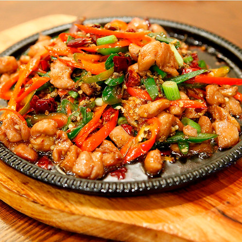 Sizzling chicken with chilli (10161)