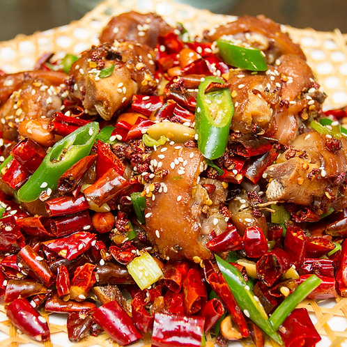Stir fried spicy pork knuckles (10521)