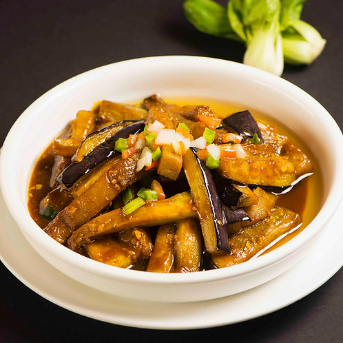 Yu Xiang Eggplant with pork mince in sweet sour sauce (89518)