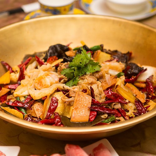 Wok-fried meat combination (10516)