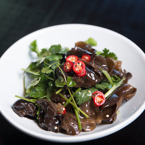 Black fungus with coriander (10105)