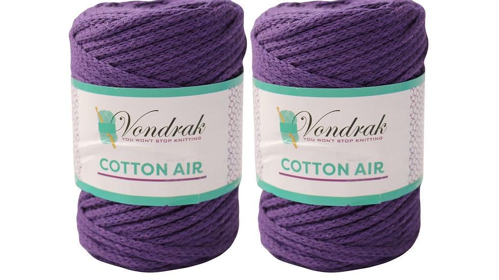 Cotton Air PURPLE (2 skeins)