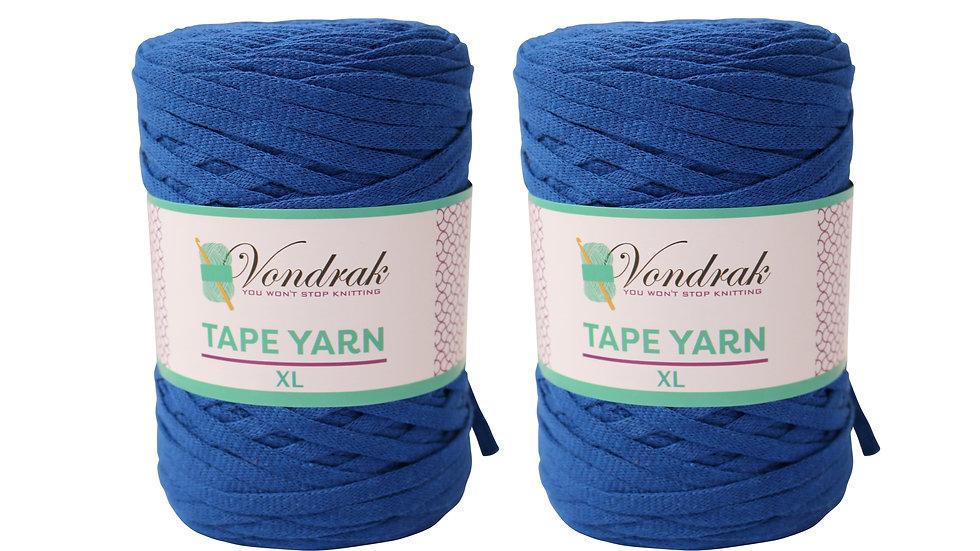 Tape Yarn 328 yards Cotton (2 Rolls) COBALT BLUE