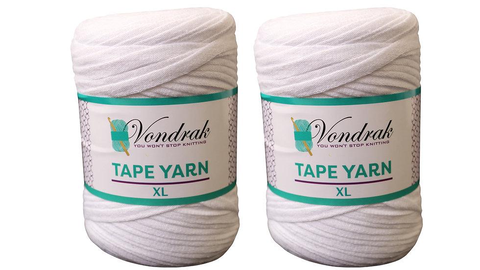 Tape Yarn 328 yards Cotton (2 Rolls) WHITE