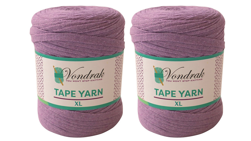 Tape Yarn 328 yards Cotton (2 Rolls) LILAC