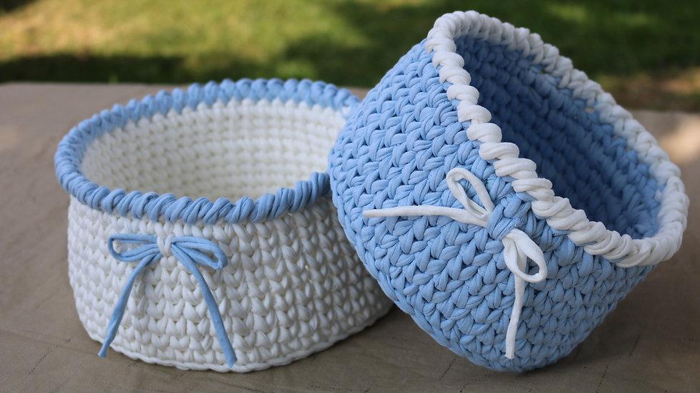 Crochet Basket T-Shirt Yarn (Set of 2)