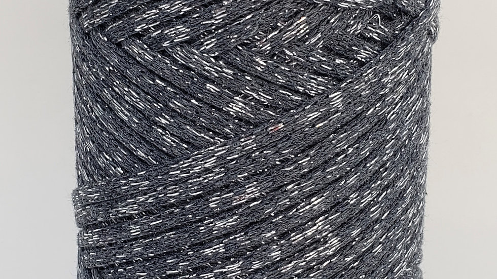 Sparkly Cotton Cord (4mm) 130 yards CHARCOAL