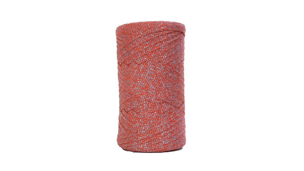 Sparkly Tape Yarn 130 yards Orange