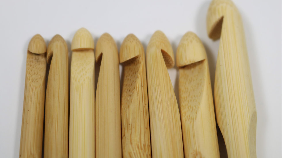 Bamboo Crochet Hook (8 Set) US J/10 - O/16 / 6mm - 12mm