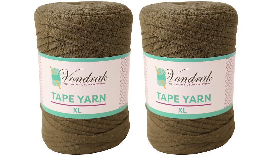 Tape Yarn 328 yards Cotton (2 Rolls) OLIVE
