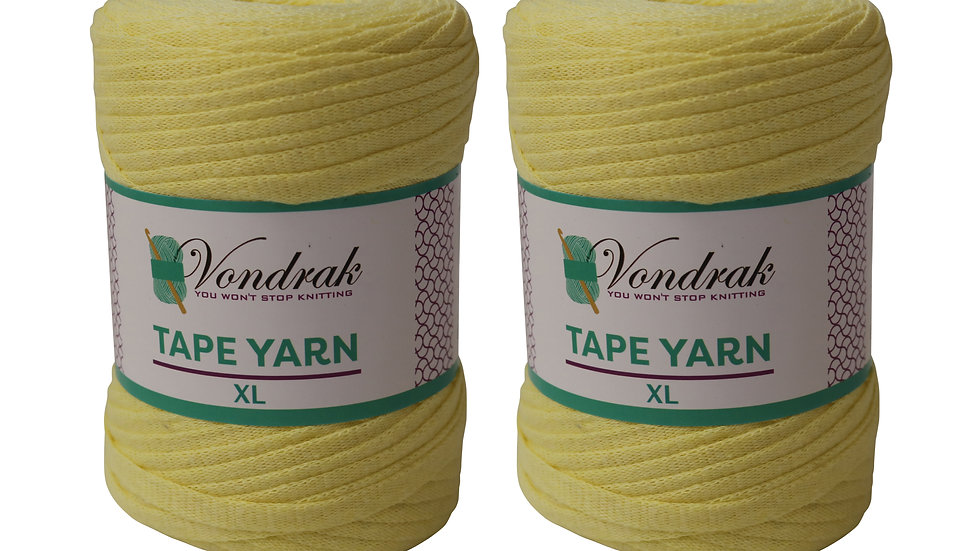 Tape Yarn 328 yards Cotton (2 Rolls) YELLOW