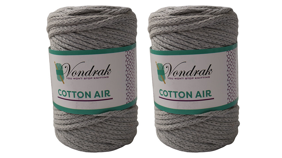 Cotton Air GRAY (2 skeins)