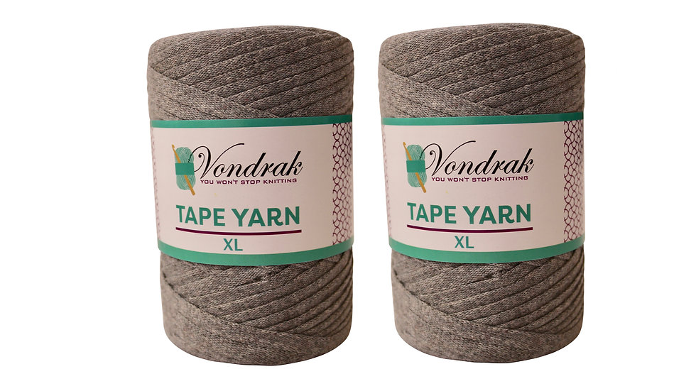Tape Yarn 328 yards Cotton (2 Rolls) GRAY