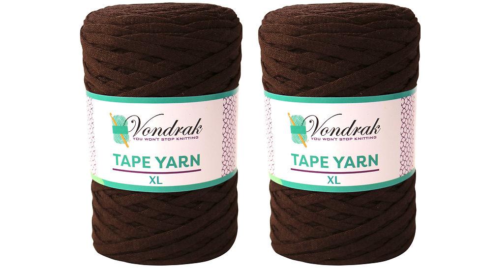 Tape Yarn 328 yards Cotton (2 Rolls) ESPRESSO